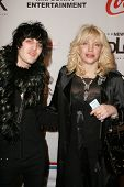 LOS ANGELES - DECEMBER 31: Noel Fielding and Courtney Love at the Gridlock New Years Eve 2007 Party
