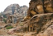 Colorful Rock Formations Of Petra In Jordan