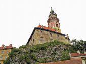 Medieval castle in Cesky Krumlov. poster