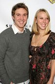 HOLLYWOOD - NOVEMBER 16: Rachel Klein and Sam Huntington at the