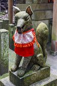 Kitsune Statue, Shinto Shrine, Japan