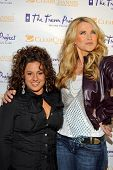 Marissa Jaret Winokur and Lucy Lawless at The Trevor Project's