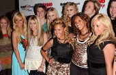 ANAHEIM - JULY 22: Emily Osment, Ashley Tisdale, Jesse McCartney, Miley Cyrus, Aly and AJ Michalka and The Cheetah Girls at the Radio Disney Totally 10 Birthday Concert at Anaheim Pond in Anaheim