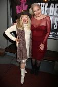 Terry Moore, Sally Kirkland at the Opening Night of