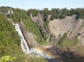 The Montmorency Falls in Quebec City, Canada