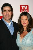HOLLYWOOD - AUGUST 27: Adam Carolla and wife Lynnette at the TV Guide Emmy After Party August 27, 20