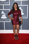 Tamala Jones at the 55th Annual GRAMMY Awards, Staples Center, Los Angeles, CA 02-10-13