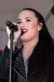 Demi Lovato at the opening of Topshop and Topman, The Grove, Los Angeles, CA 02-14-13
