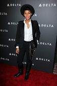 Janelle Monae at Delta Airline's Celebration of LA's Music Industry, Getty House, Los Angeles, CA 02-07-13