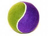 Pelota de tenis (púrpura & verde)