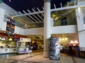 Inside Movie Theater Food Area As Movie Goers Visits Ward Stadium