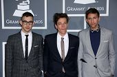 Jack Antonoff, Nate Ruess, Andrew Dost at the 55th Annual GRAMMY Awards, Staples Center, Los Angeles, CA 02-10-13