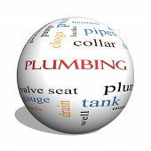 pic of nipple rings  - Plumbing 3D sphere Word Cloud Concept with great terms such as pipes fitting plumber and more - JPG