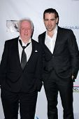 Jim Sheridan, Colin Farrell at the US-Ireland Alliance Pre-Academy Awards Event, Bad Robot, Santa Mo
