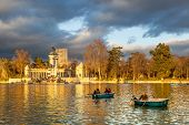 Madrid - January 25: People Enjoy A Sunny Winter Day In Retiro Park On January 25, 2014 In Madrid, S