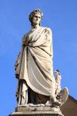 pic of alighieri  - Statue of Dante Alighieri in Florence Italy - JPG