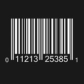 Bar code illustration on a dark background