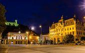 Congress Square In Ljubljana, Slovenia