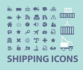 shipping, logistics, delivery icons, signs, symbols set, vector