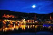 Heidelberg city night