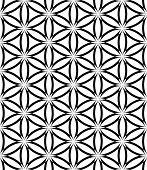 Seamless latticed pattern. Lacy circles and hexagons texture. Vector art.