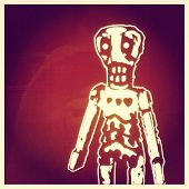Instagram filtered image of a day of the dead skeleton