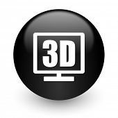 3d display black glossy internet icon