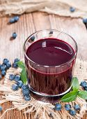 Fresh Made Blueberry Juice