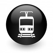 train black glossy internet icon