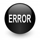 error black glossy internet icon