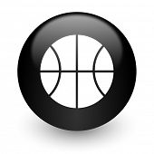 ball black glossy internet icon