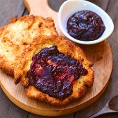 Hungarian Langos with Jam