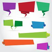 Origami Speech Bubbles And Banners