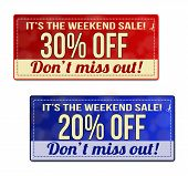 It's The Weekend Sale Coupon, Voucher, Tag