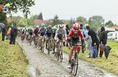 The Cyclist Lars Bak On A Cobbled Road - Tour De France 2014