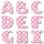 scrapbook lace alphabet letters