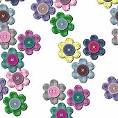 seamless background with scrapbook flowers