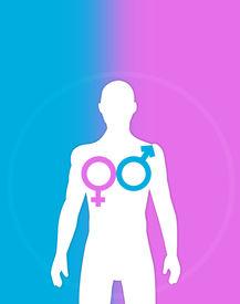 foto of transgendered  - Illustration concept for LGBT or transgender operation - JPG