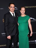 LOS ANGELES - OCT 30:  Robert Downey Jr & Susan Downey arrives to the BAFTA Jaguar Brittannia Awards 2014 on October 30, 2014 in Beverly Hills, CA