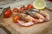 Grilled Shrimp And Tomato