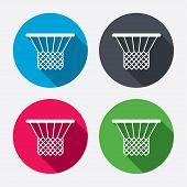 Basketball basket icon. Sport symbol.