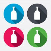 Alcohol sign icon. Drink symbol. Bottle.