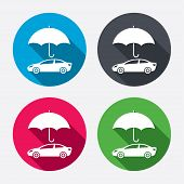 Car insurance sign icon. Protection symbol.