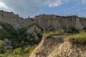 Landscape view to ancient Melnik town