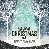 Falling Snow. Merry Christmas Background with Text