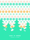Vector texture circles stripes abstract Christmas tree silhouette pattern frame card template