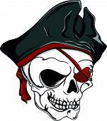 Pirate Skull Red Eyepatch