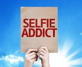 Selfie Addict card with a beautiful day