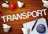 Transport Desktop Memo Calculator Office Think Organize