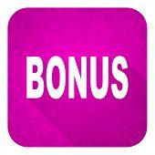 bonus violet flat icon, christmas button